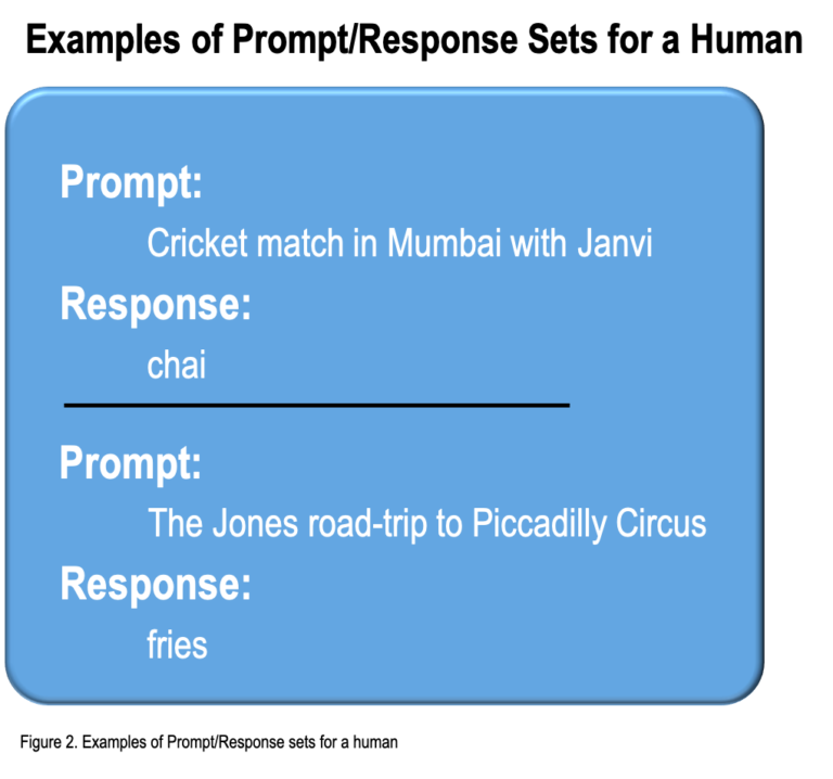 examples of prompt/response sets for a human